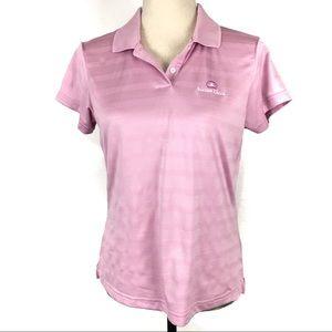 Adidas Med Golf Bartons Creek Polo Shirt Lavender